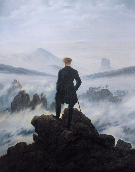 Caspar David Friedrich. Wanderer above the Sea of Fog, 1818.
