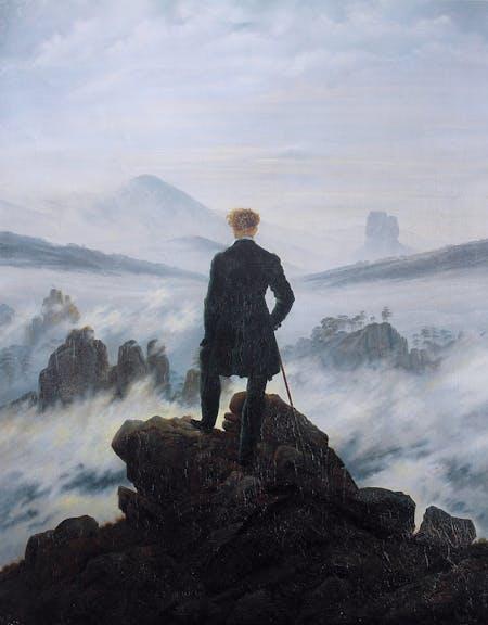 Caspar David Friedrich. Wanderer above the Sea of Fog, 1818.