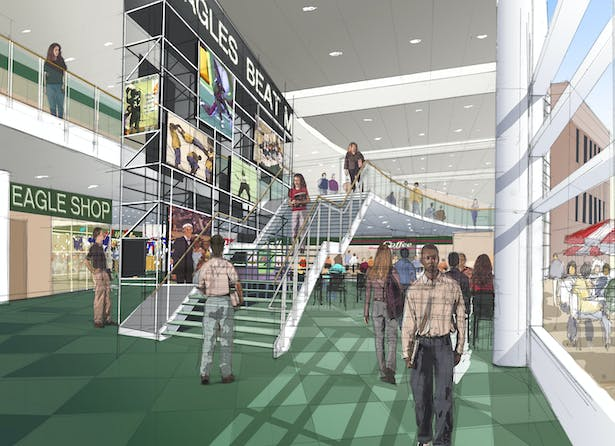 Interior Rendering by Barry Gribe of Burt Hill
