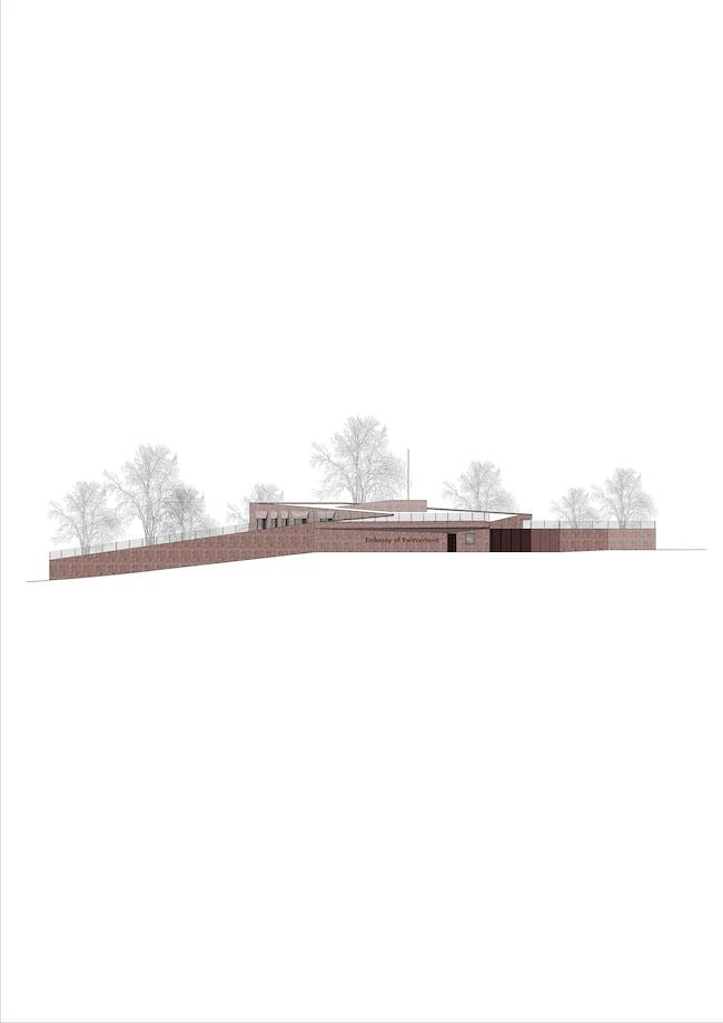 Western aspect. Image courtesy of Roeoesli & Maeder Architects.