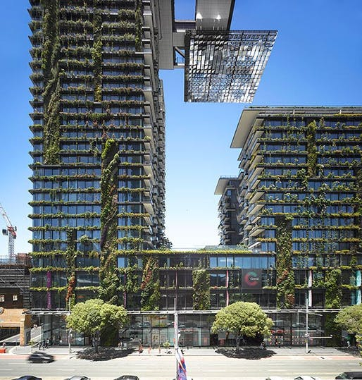 Jean Nouvel's One Central Park in Sydney via ft.com.