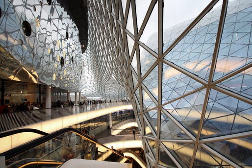 MyZeil Shopping Mall in Frankfurt, Germany. Image courtesy of Studio Fuksas