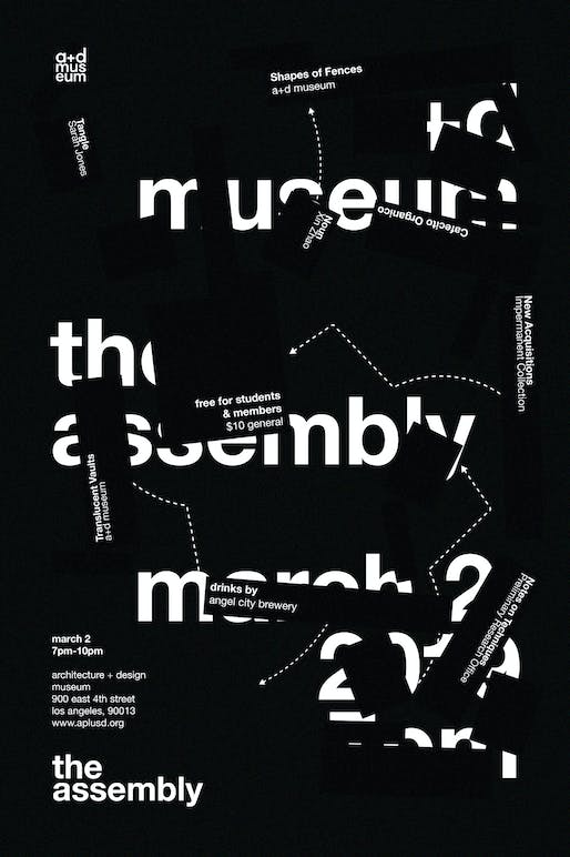 Spring 2019 Assembly Poster. Image via A+D Museum
