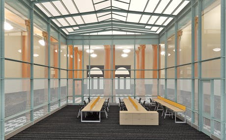 Conversion of an office space into a public access area in a Federal Government Building in Brooklyn Heights