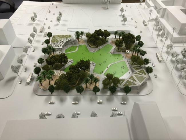 A model of the park proposal by AECOM. Credit: AECOM via City of Los Angeles