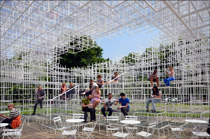 "Sou Fujimoto's Serpentine Pavilion (photo credit: ""Serpentine Gallery Pavilion 2013' by Photo by George Rex - flickr)"