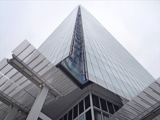 Should all-glass skyscrapers be banned? Pictured: The Renzo Piano-designed Shard tower in London. Image courtesy of Flickr user Jean-Pierre Dalbéra.