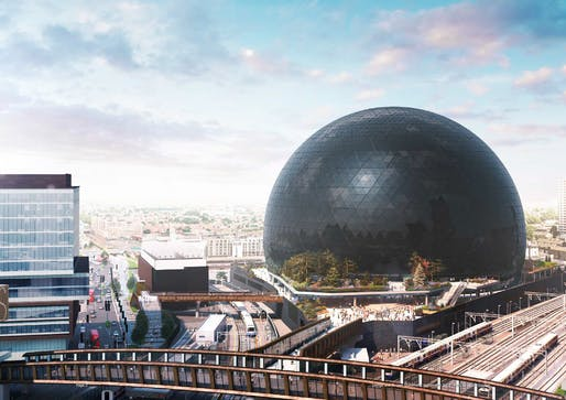 Rendering of the proposed MSG Sphere London venue. Image: Madison Square Garden Company.