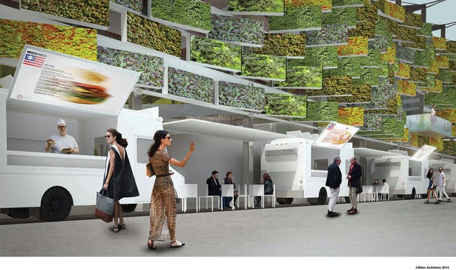 'American Food 2.0: United to Feed the Planet', designed by Biber Architects for the Milan Expo 2015. Image © Biber Architects