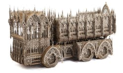 Wim Delvoye touches up building equipment with a Gothic spin
