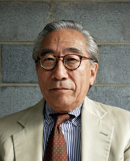 Shoji Sadao, architect, Founding Director of the Noguchi Museum. Partners and collaborators with Isamu Noguchi and Buckminster Fuller. Photo via Wikipedia.
