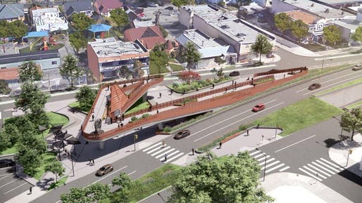 Destination Crenshaw rendering. Rendering courtesy of Perkins&Will