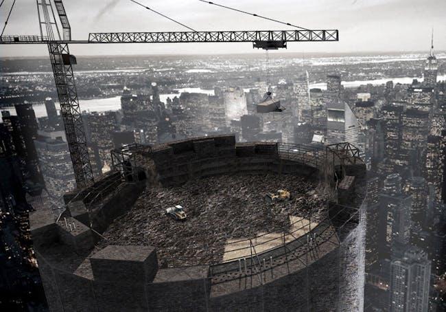 Third Place: Monument to Civilization: Vertical Landfill for Metropolises, Lin Yu-Ta, Anne Schmidt (Taiwan)