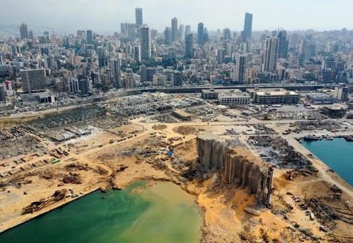In August 2020, a massive explosion of about 2,750 tons of ammonium nitrate completely destroyed the Port of Beirut along with the adjacent part of the city. Photo: Inspireli