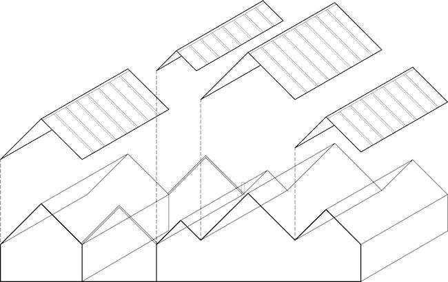 Axonometric. Image courtesy of Tham & Videgård Arkitekter