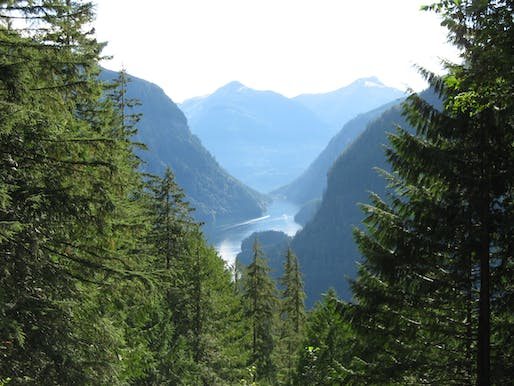 View of the Princess Louisa Inlet in British Columbia, Canada. Image courtesy of Wikimedia user Ben Walker.