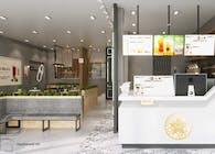 Thiết kế thi công nội thất cửa hàng trà sữa Tocotoco Nha Trang