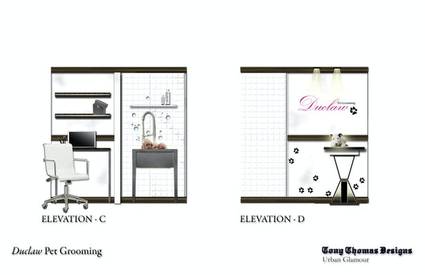 DUCLAW PET GROOMING - WORK WALL/FEATURE WALL & GRAPHIC