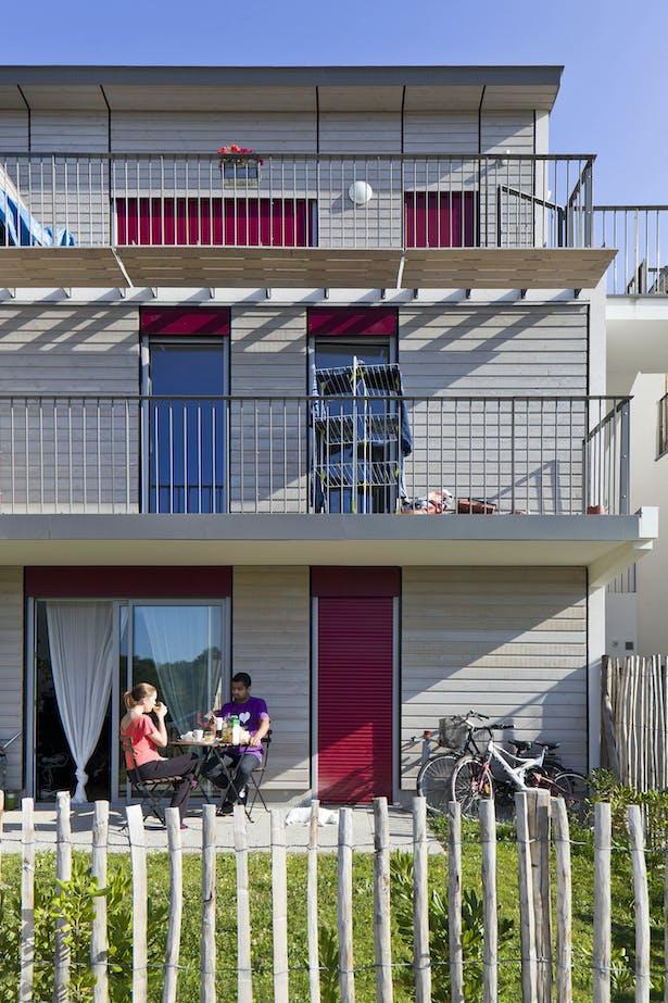 Multy-family Dwellings: South façade