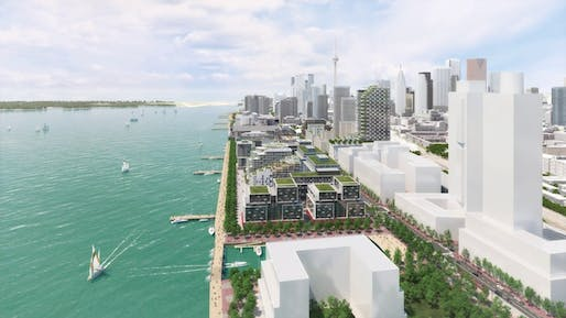 Quayside rendering located on Toronto's waterfront. Image: Waterfront Toronto.