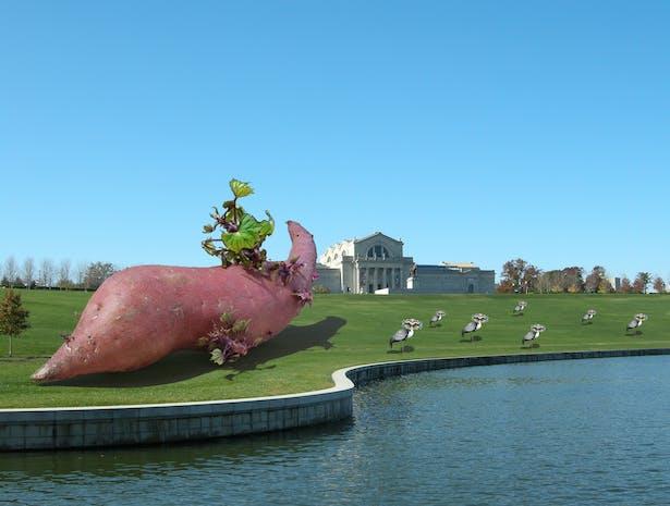 The Potato, the Art Museum, and Seven Masquerading Cranes.