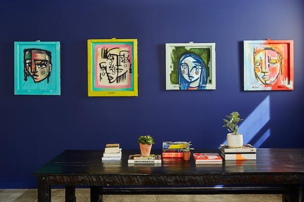 Local Pilsen artist Juan Torres's works