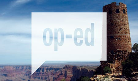 View of the Desert View Watchtower in Grand Canyon National Park. Image courtesy of Page & Turnbull.