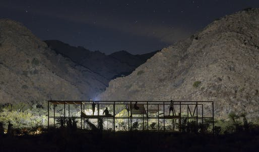 Space Saloon Takes Group of Students out to the High Desert for a Dynamic Twist on the Typical Design-Build Workshop