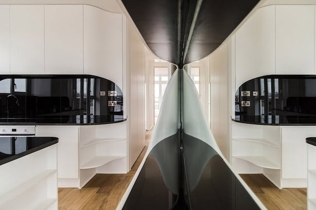 Wapping Penthouse Flat in London, UK by Atmos Studio