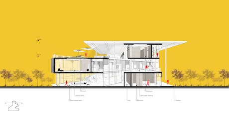 section perspective diagram of Albert Home