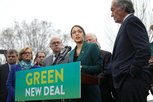 Public Banking could help answer the question of how the Green New Deal would be funded. Image courtesy of Wikimedia user Senate Democrats.