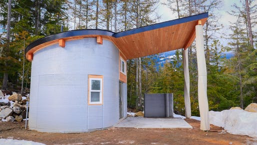 The Fibonacci House in Canada claims to be the world's first fully 3D printed home to be listed on Airbnb. Photo: Twente Additive Manufacturing