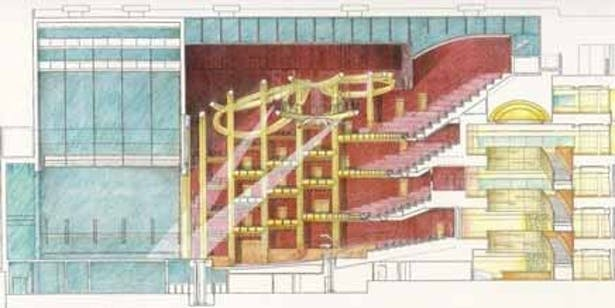 Rendering of the Auditorium Transverse Section