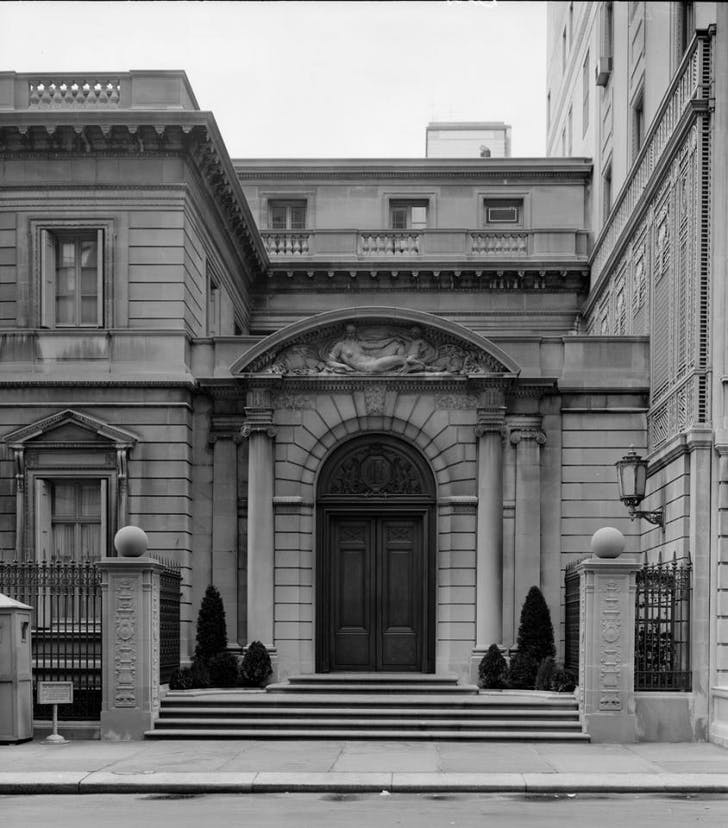 Frick Collection Entrance. Image via Frick Collection.