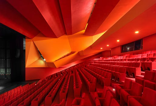 'Théodore Gouvy' Theater, located in Freyming-Merlebach, by Dominique Coulon & Associés. Image: Eugeni Pons.