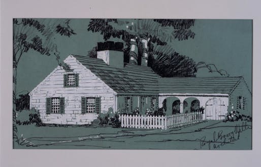 "Elevation drawing from ""Better Homes for Budgeteers."" Royal Barry Wills (1895-1962) Architect. Image courtesy of Historic New England"