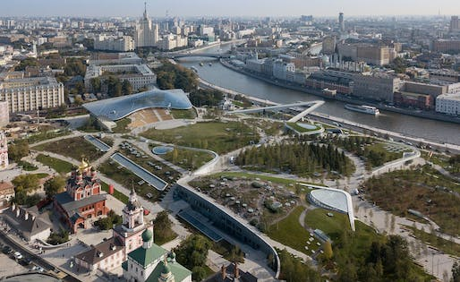 Zaryadye Park by Diller Scofidio + Renfro with Sergey Kuznetsov, & Hargreaves Associates & Citymakers, located in Moscow. Image: Diller Scofidio + Renfro.