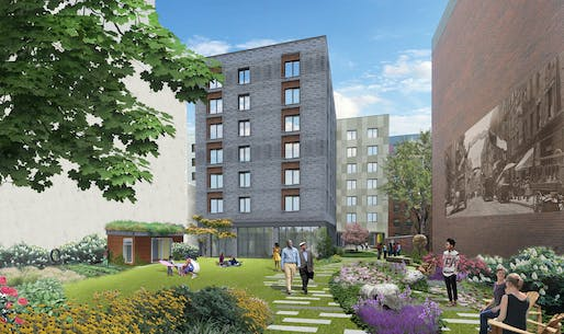 Rendering of the proposed Haven Green development. Image: Curtis + Ginsberg Architects, via havengreencommunity.nyc
