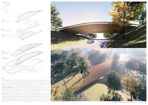 """1ST PRIZE - """"Flow: Between City and River"""". PROJECT AUTHOR: Abraham Fung 