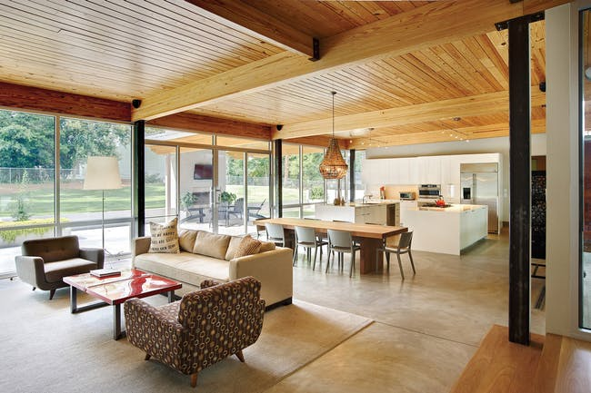Ferguson/Crowther Residence in Raleigh, NC by Louis Cherry Architecture; Photo: Dustin Peck Photography