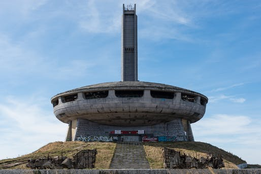 "One of the Nonument Group's three interventions in 2019 will take place at the famous Buzludzha Monument in the mountains of Bulgaria, sitting derelict since the fall of Communism there three decades ago. Photo: Rob Schofield/<a href=""https://www.flickr.com/photos/robschofield/30752723972/in/photostream/"">Flickr</a>"