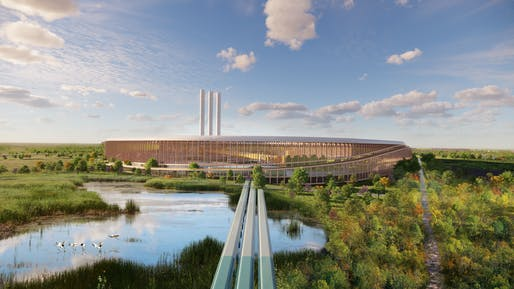 Plant port conveyor. Image: Bjarke Ingels Group