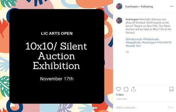10x10 Silent Auction Poster