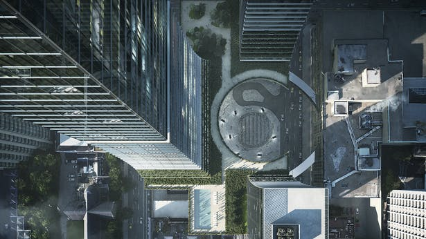 OMA Vancouver rendering | Adam New | Archinect
