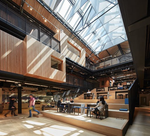 Offices Winner: Heneghan Peng Architects, Airbnb European Headquarters, Dublin, Ireland.