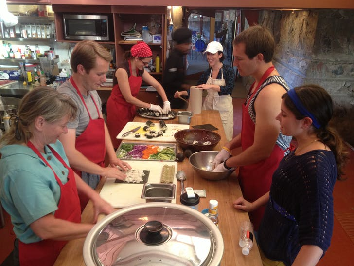 Sushi night is a community effort at Taliesin West. Photo: Jason Silverman