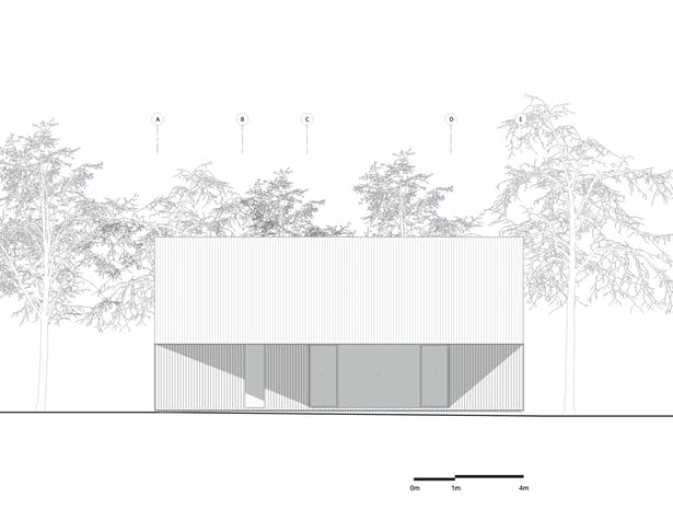 Shear House by stpmj, South Elevation