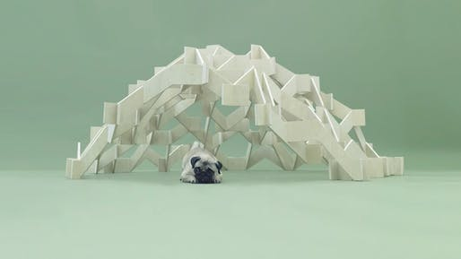 MOUNT PUG by Kengo Kuma. Screenshot via architecturefordogs YouTube channel.