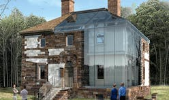 """""""The Glass House Project"""" begins construction at the Menokin Foundation"""