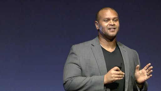 Jonathan Moody at TEDxKingLincolnBronzeville in October 2020.